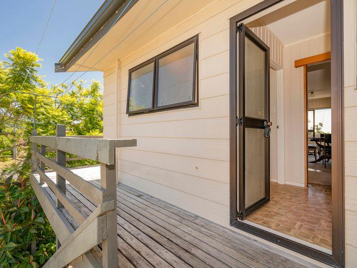 Back door and decking