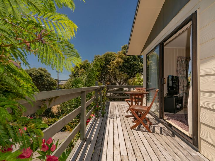 Enjoy outdoor living and dining on the deck
