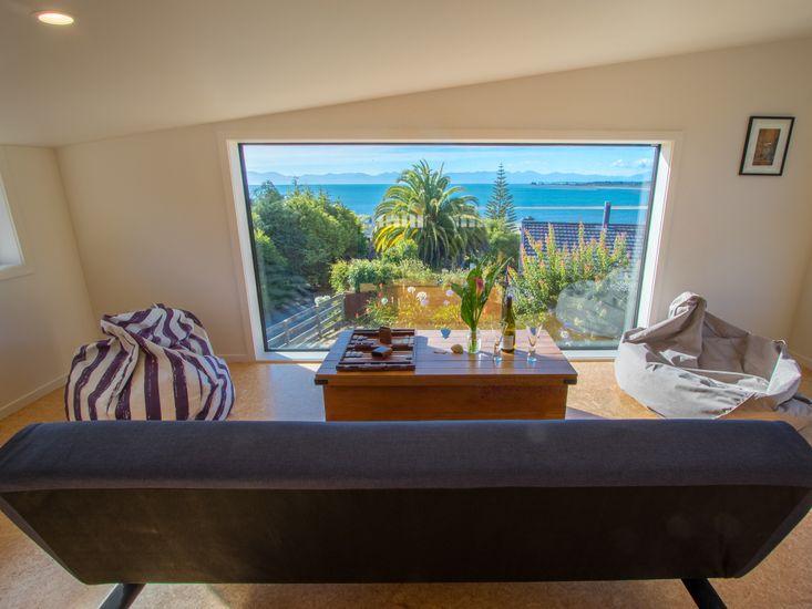 Mezzanine lounge space to enjoy the view