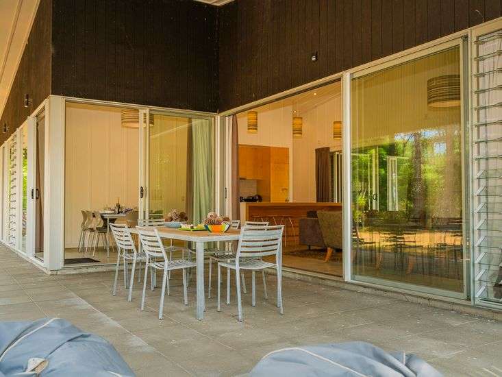 Outdoor living and dining on the sheltered veranda