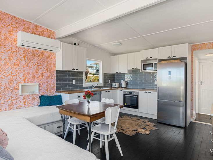 Open dining and kitchen and space