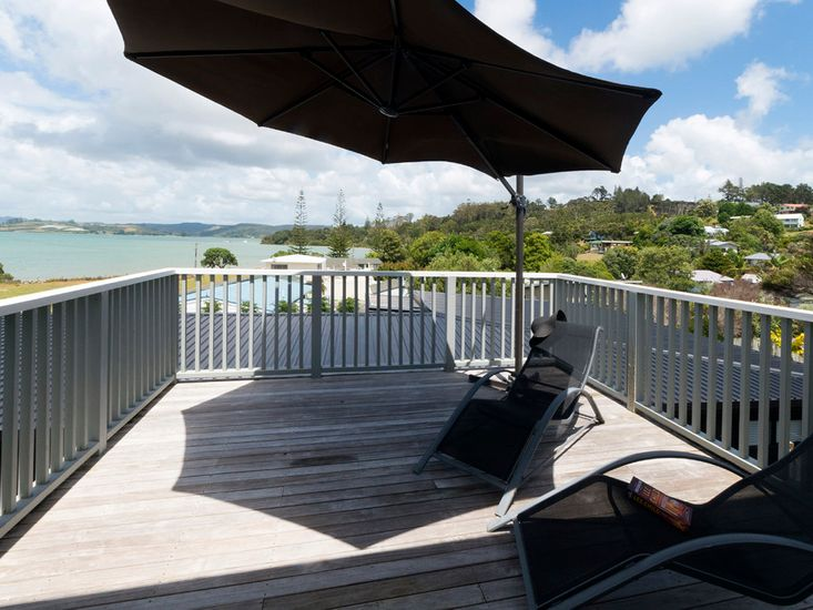 Relax here in the sunshine at Hihi Beach Retreat!