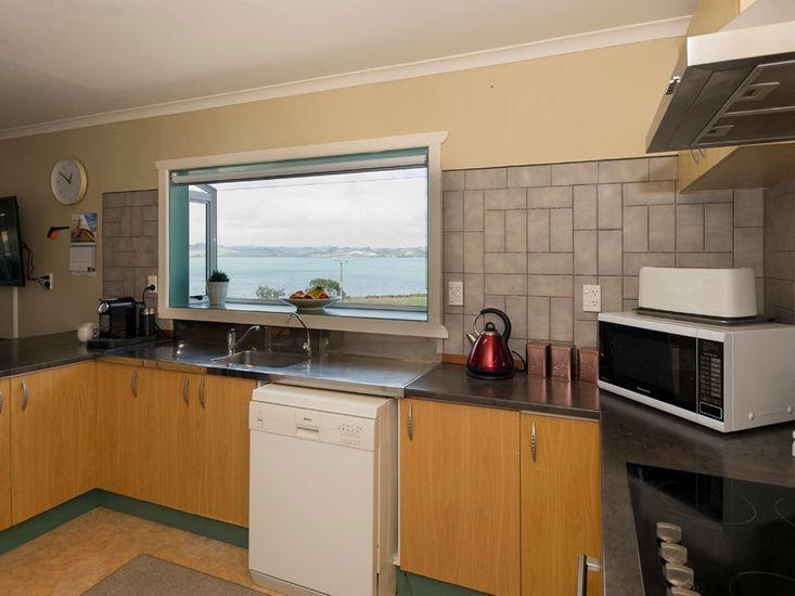Kitchen overlooking the beach