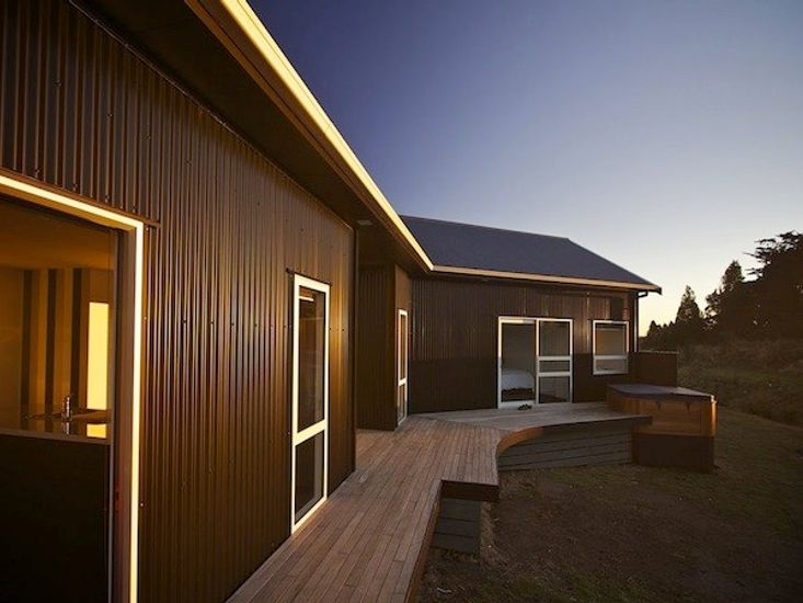 Decking surrounding the house
