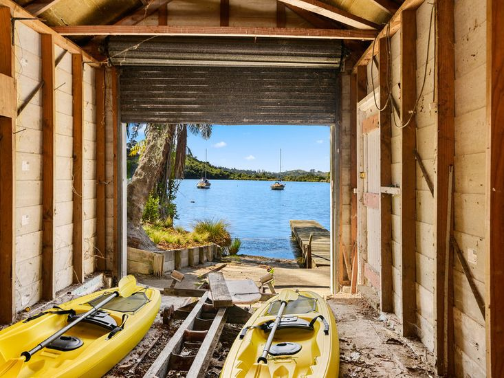 Kayaks available for guest use