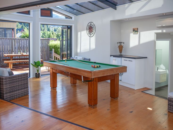 Holiday fun with the pool table