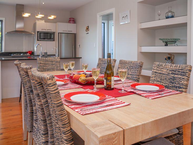Stylish dining area