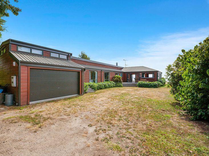 Exterior, garden and garage