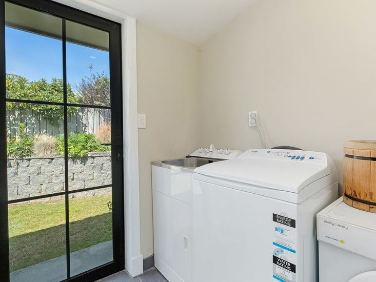Laundry and second bathroom