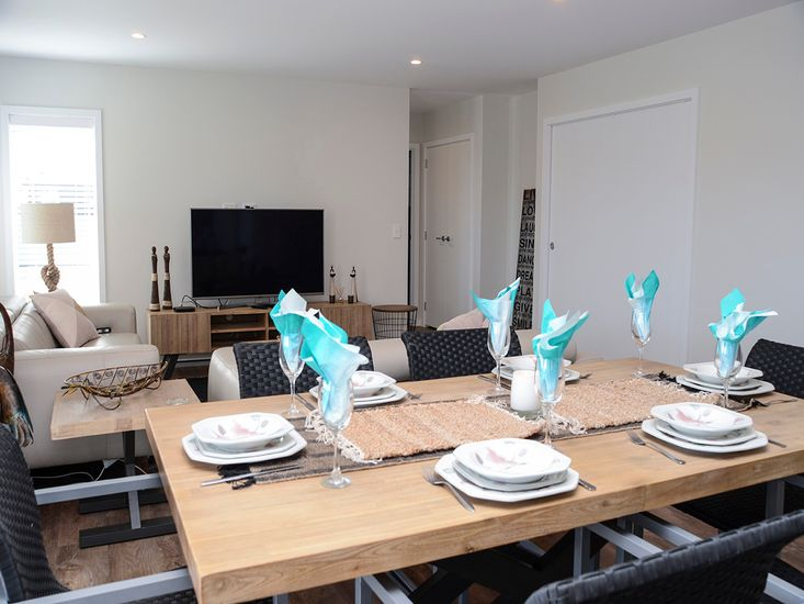 Dining table onto lounge