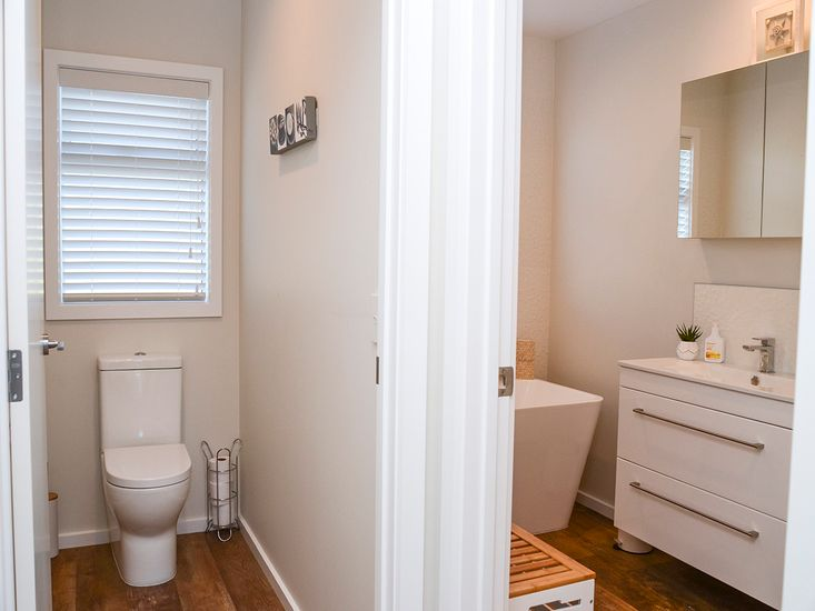 First bathroom and separate toilet