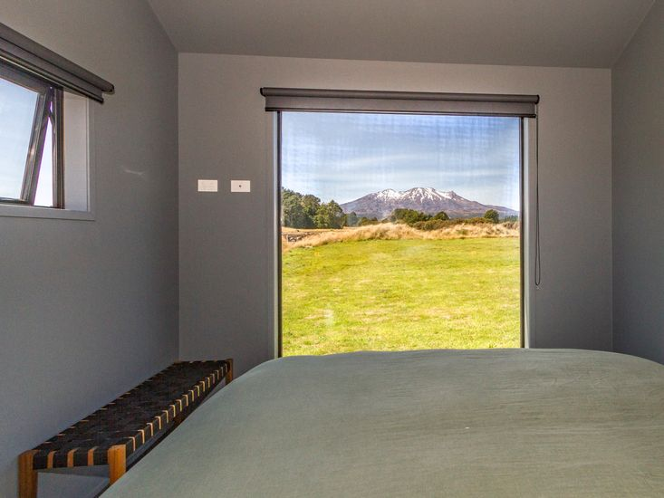 View of Mt Ruapehu from the master bedroom