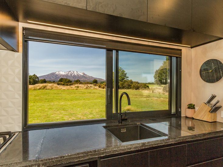 View of Mt Ruapehu from the kitchen window