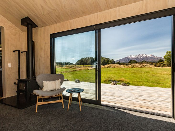 Living area opens out to the sundeck