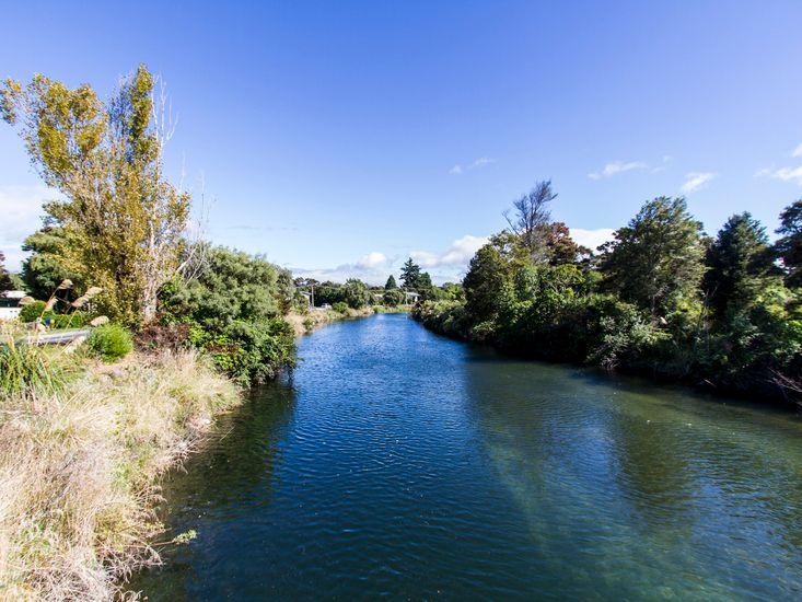 On the banks of Tauranga-Taupo River