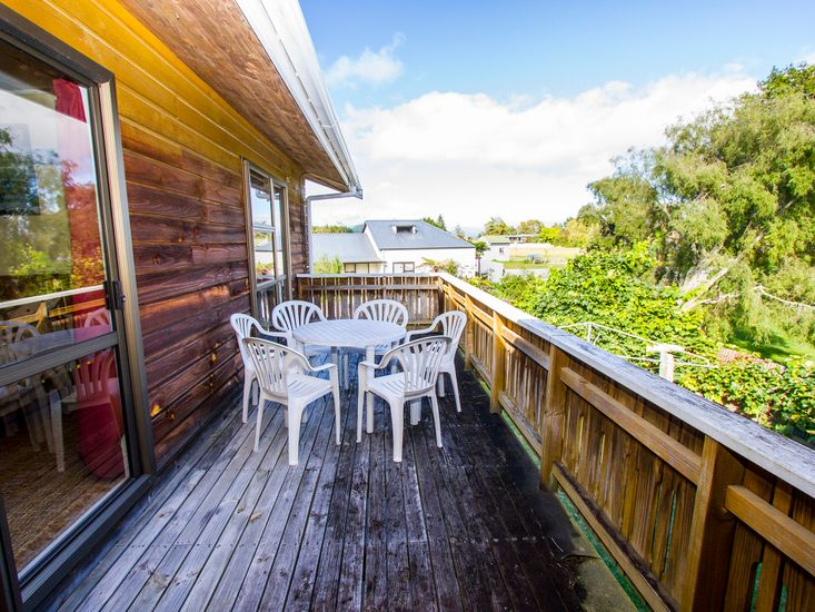 Large sunny deck
