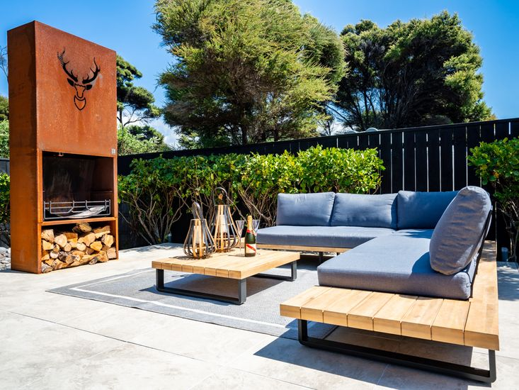 Statement outdoor fireplace