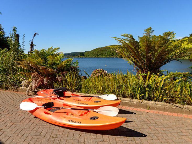 Kayaks to take out onto the lake