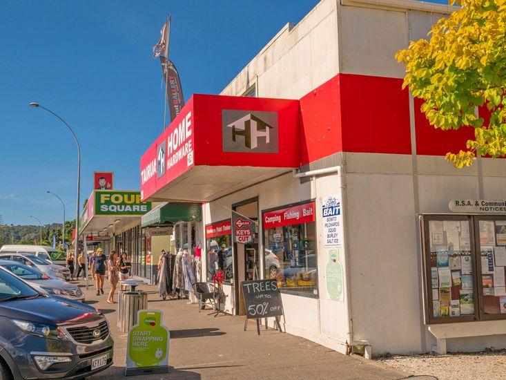 Next door to the main strip of shops