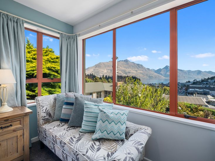 Views from the master bedroom at Lions Heart Apartment