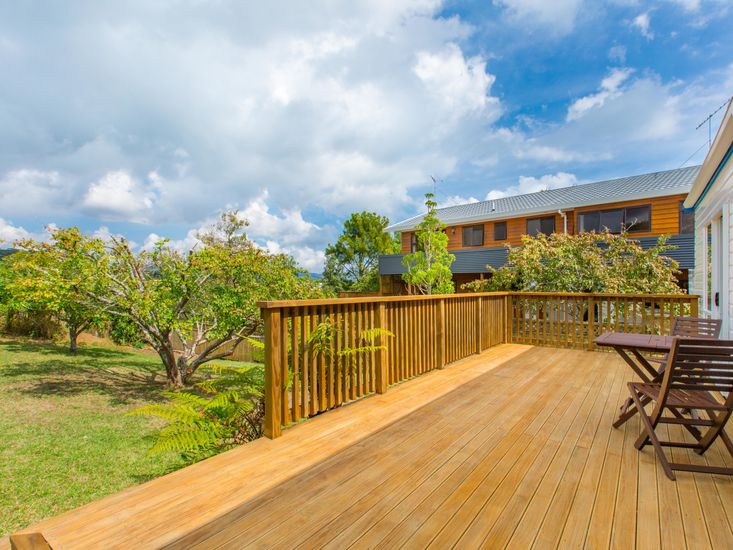 Private back deck and garden