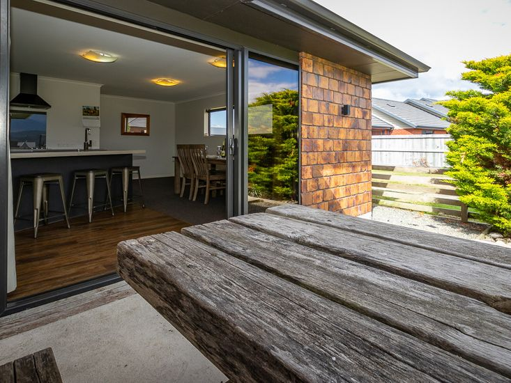Kitchen and dining opens out to outdoor area