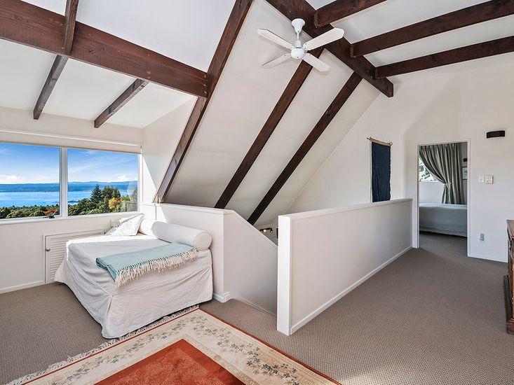 Top floor landing onto bedroom