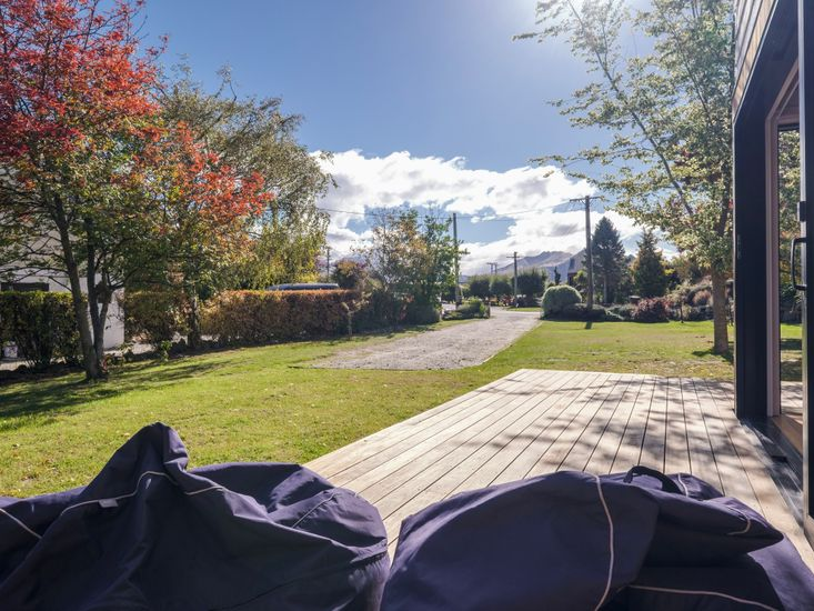 Sunny days spent out on the bean bags in the sun