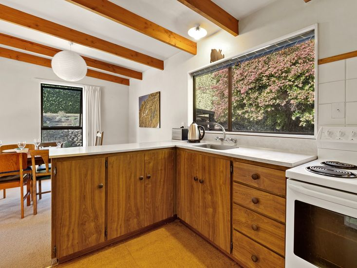 Kitchen onto dining area