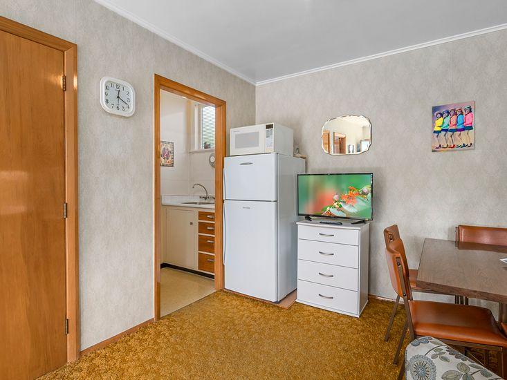 Semi attached studio - Living area onto kitchenette