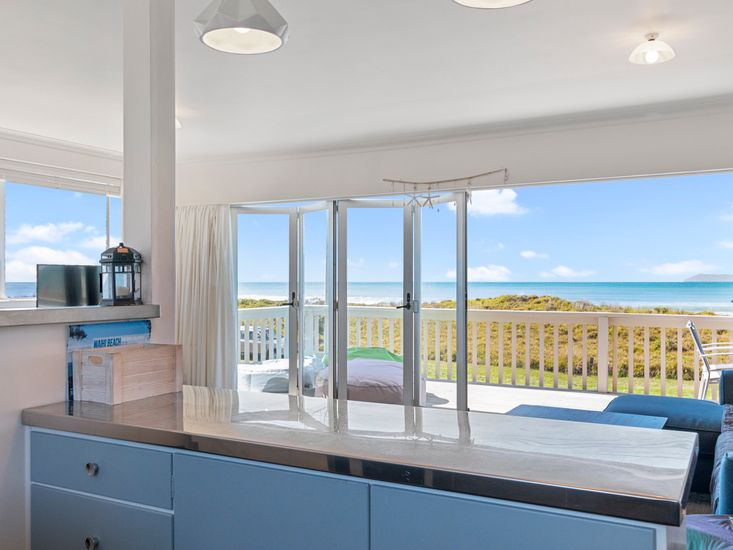 Views of the beach from the kitchen
