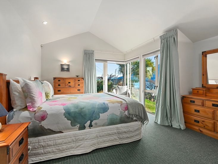 Master bedroom and views