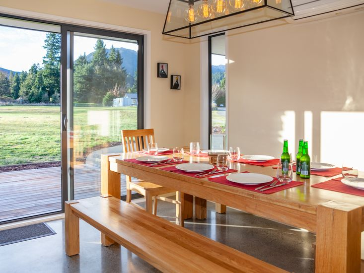 Large dining table - opens out to the sundeck