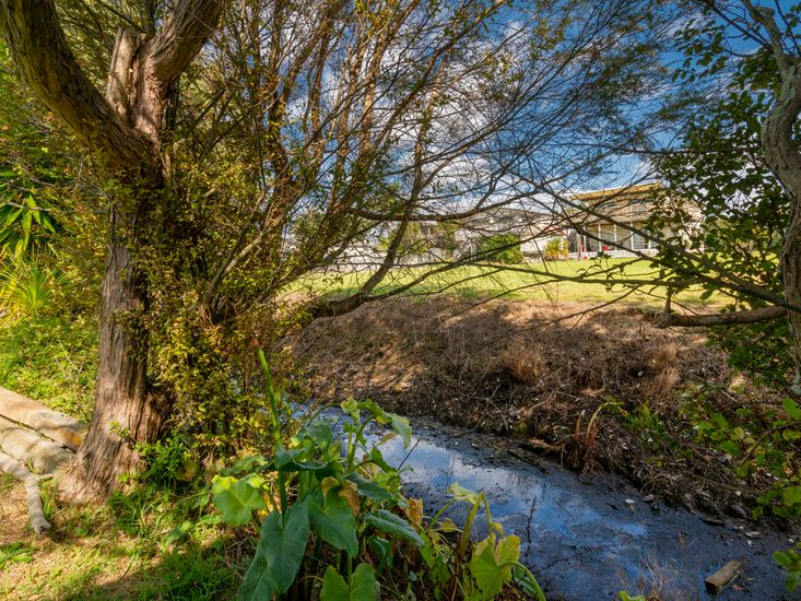 Stream running alongside the property