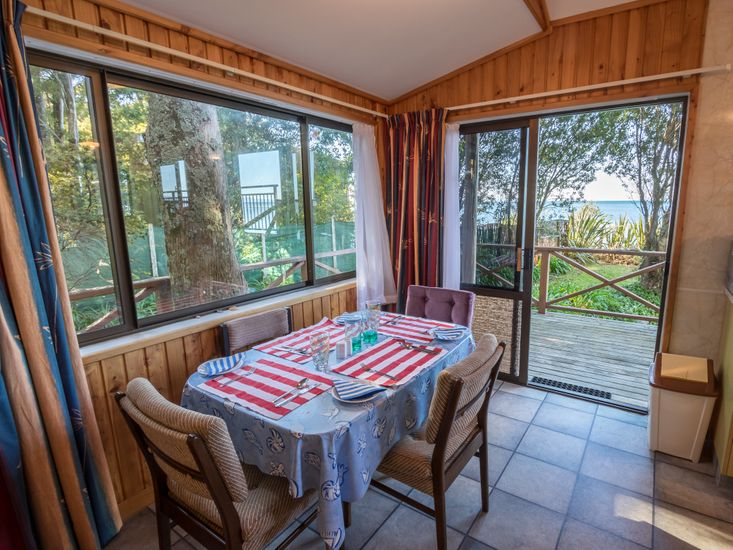 Dining area - opens out to the views and the decking