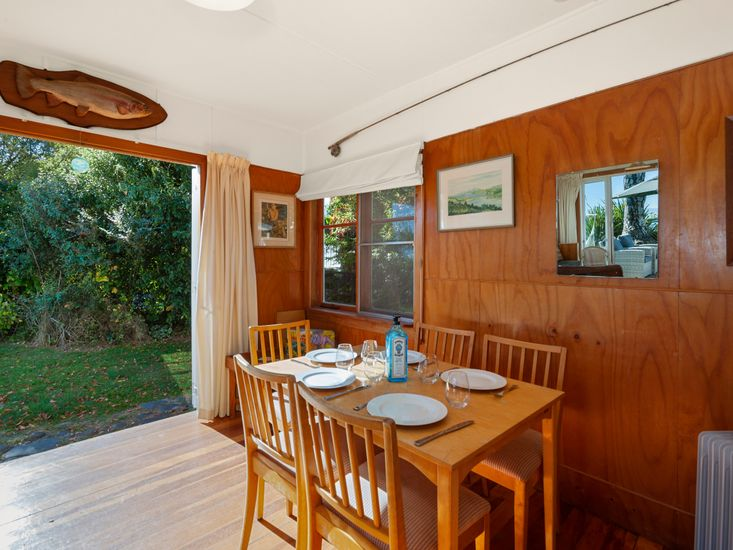 Dining area opens out to the garden