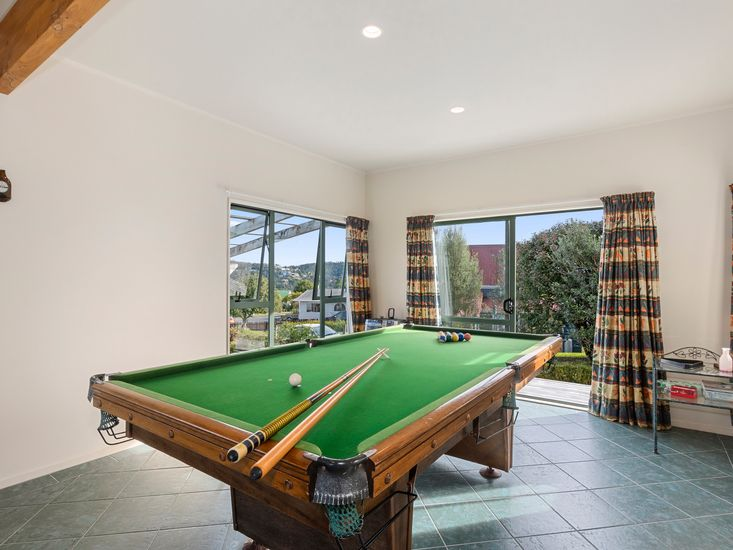 Pool table downstairs