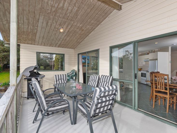 Sundeck for outdoor living, BBQs dining