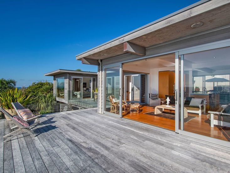 Living area opens out to sundeck and views