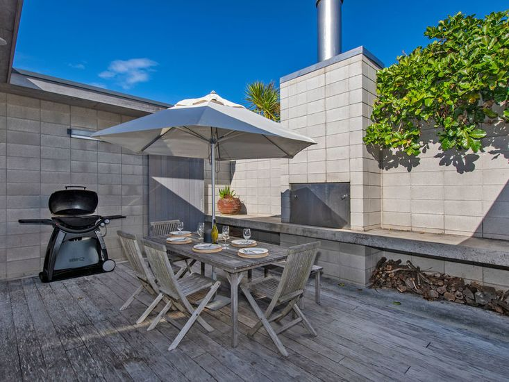 Outdoor dining and BBQ area
