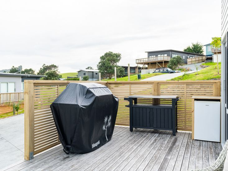 BBQ area on the decking