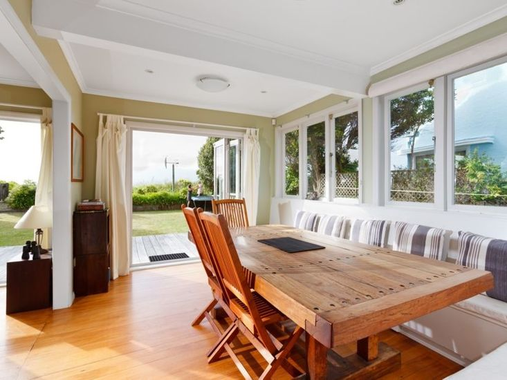 Dining area opens out to the sundeck