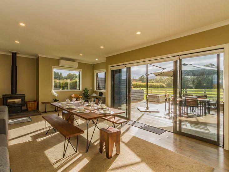 Indoor/outdoor flow for al fresco dining!
