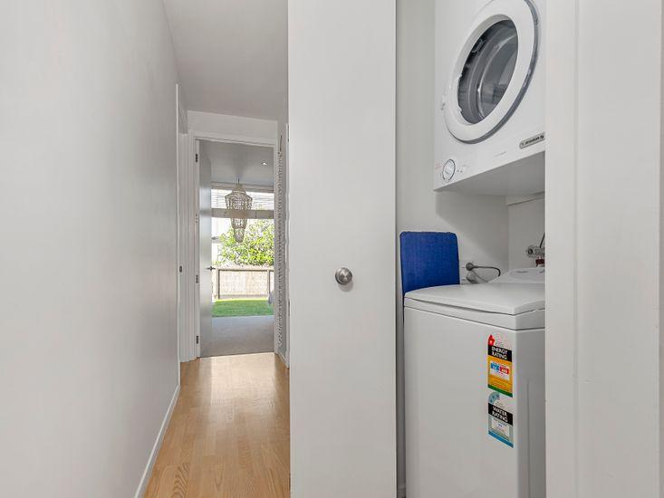 Laundry - easily tucked away
