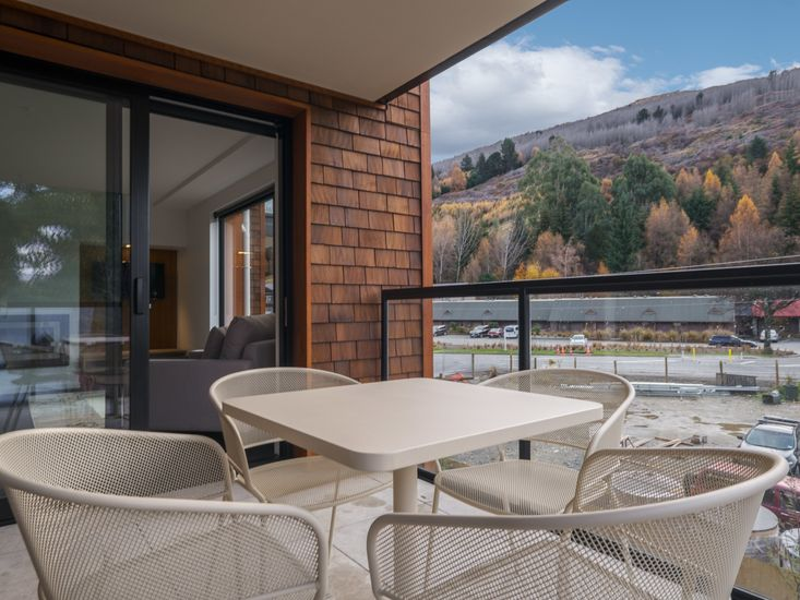 Balcony for outdoor living and dining