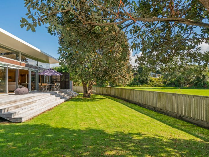 Spacious sundeck and lawn