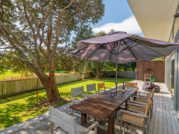 Large outdoor dining table