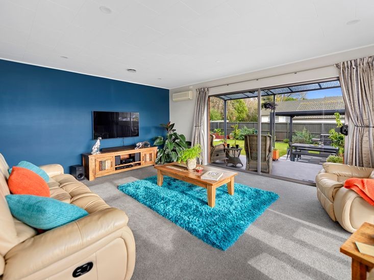Lounge room opens out to the garden
