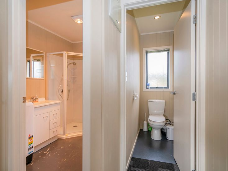 Bathroom and separate toilet