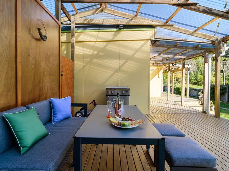 Sheltered sundeck for outdoor living